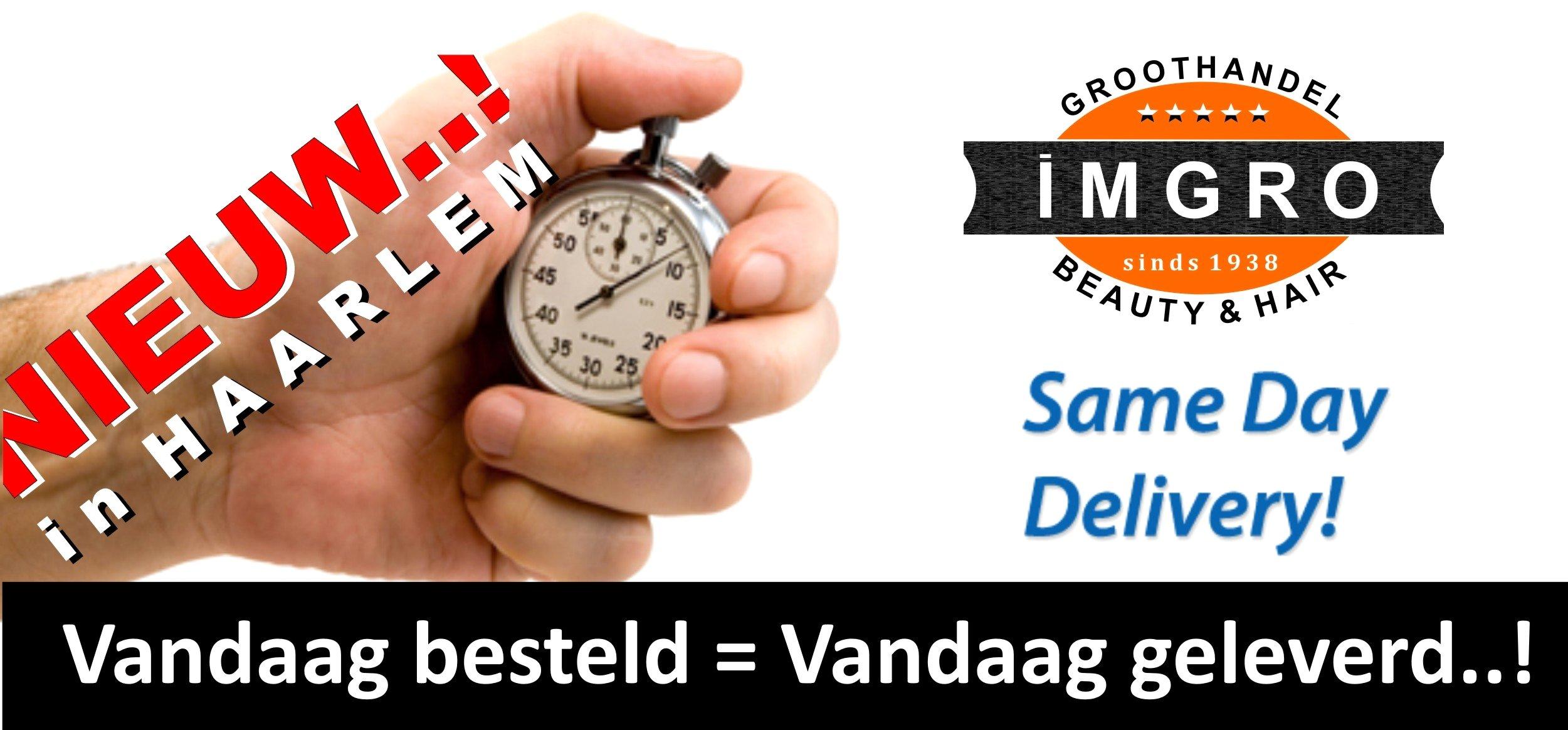 Vanaf vandaag leveren wij in Haarlem dezelfde dag..!