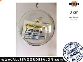 Kerstbal Helder Acryl, vulbaar met hangoog, Diam 8cm