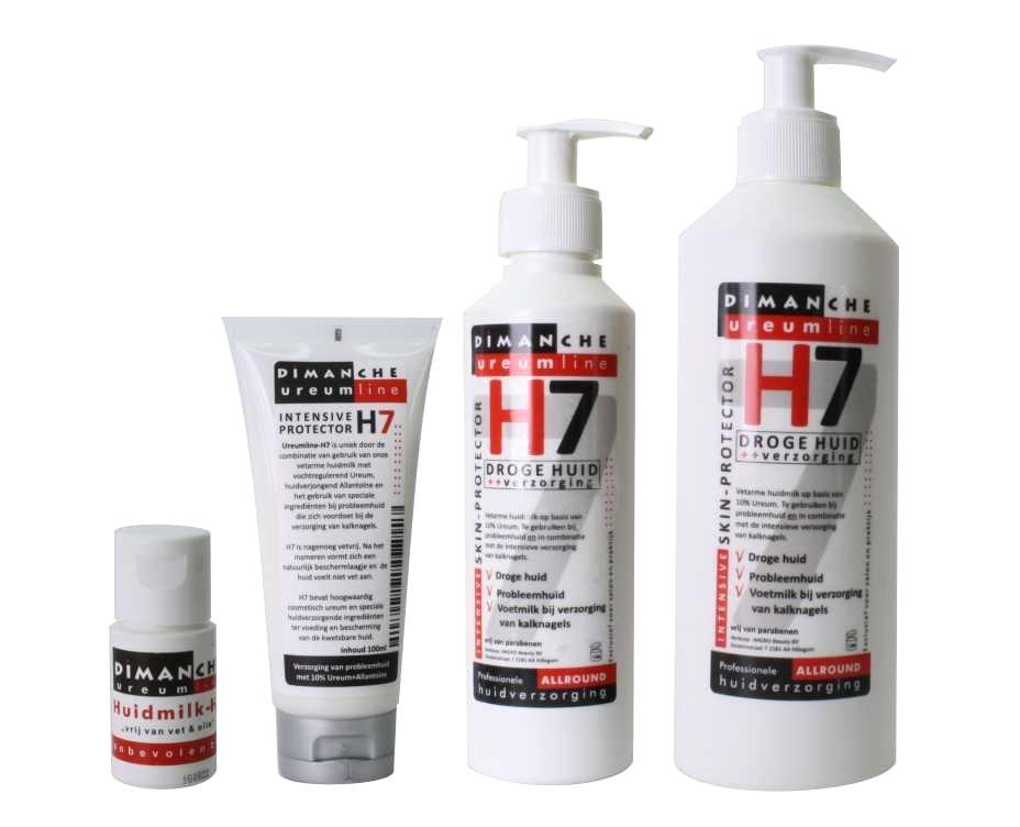 H7 huidmilk bij de verzorging van de voetenhuid bij kalknagels
